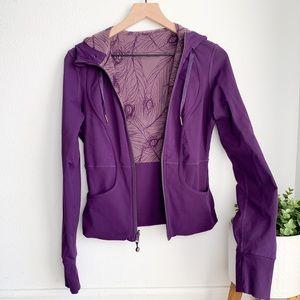 Lululemon purple reversible peacock jacket